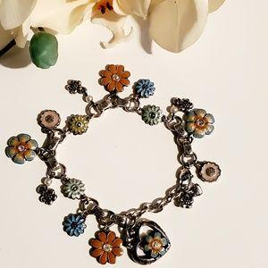 Brighton Bracelet Enamel Flowers